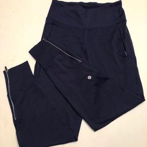 Lululemon navy jogger with side zipper
